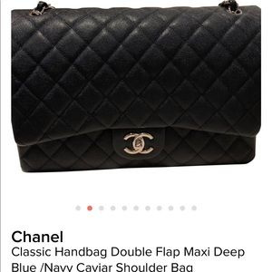 Chanel maxi navy classic double flap